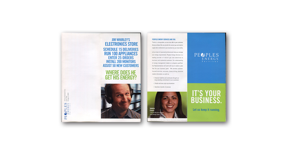 Peoples Energy direct mail (1 of 2)